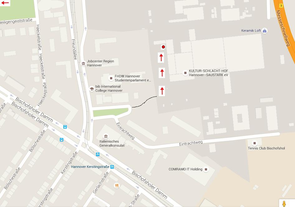 S-Bahnstation bzw. Bushaltestelle Kerstingstraße