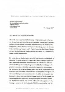 Brief Mit Datum Vom 17022017 Flüchtlingsrat Niedersachsen