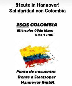 Kundgebung Kolumbien